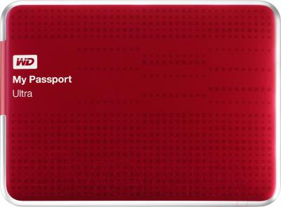Внешний жесткий диск Western Digital My Passport Ultra 1TB Red (WDBZFP0010BRD)