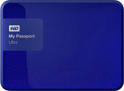 Внешний жесткий диск Western Digital My Passport Ultra 3TB Noble Blue (WDBNFV0030BBL)