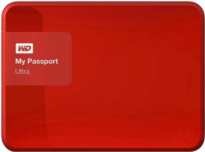 Внешний жесткий диск Western Digital My Passport Ultra 3TB Festive Red (WDBNFV0030BBY)
