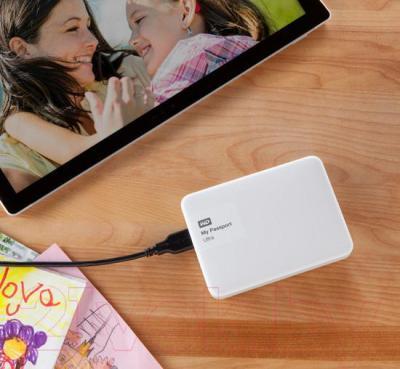 Внешний жесткий диск Western Digital My Passport Ultra 500GB White (WDBBRL5000AWT)