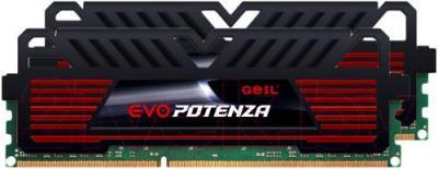 Оперативная память DDR3 GeIL EVO Potenza Onyx Black 2x4GB DDR3 PC3-15000 (GPB38GB1866C10DC)