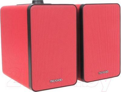 Мультимедиа акустика Microlab H 21 (красный) - общий вид
