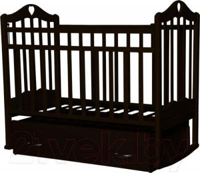 Детская кроватка Антел Каролина-4 (венге) - реальный цвет модели может немного отличаться