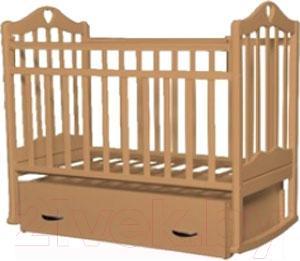 Детская кроватка Антел Каролина-4 (орех) - реальный цвет модели может немного отличаться