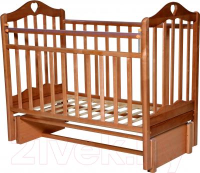Кроватка Антел Каролина-5 (бук)