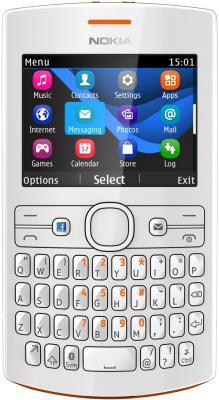 Мобильный телефон Nokia Asha 205 Duos Orange-White - общий вид