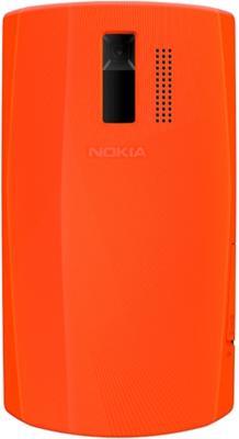 Мобильный телефон Nokia Asha 205 Duos Orange-White - задняя крышка