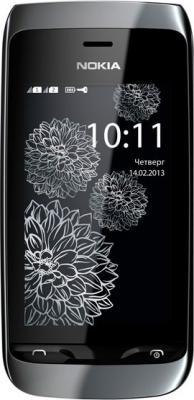 Мобильный телефон Nokia Asha 308 Black Charme - общий вид