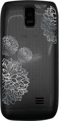 Мобильный телефон Nokia Asha 308 Black Charme - задняя панель