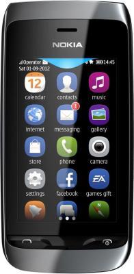 Мобильный телефон Nokia Asha 309 Black - общий вид
