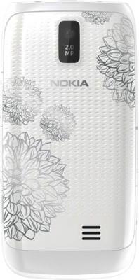 Смартфон Nokia Asha 309 White Charme - вид сзади