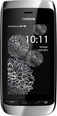 Смартфон Nokia Asha 309 White Charme - общий вид