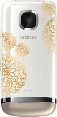 Мобильный телефон Nokia Asha 311 Sand White Сharme - задняя панель