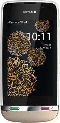 Мобильный телефон Nokia Asha 311 Sand White Сharme - общий вид