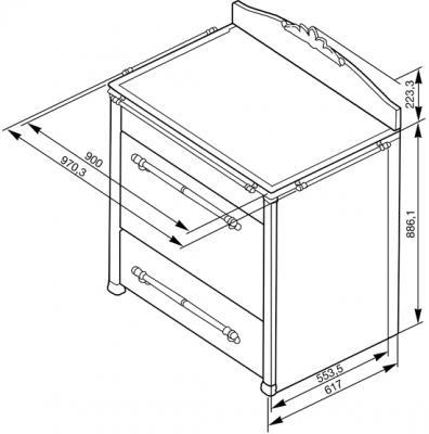 Кухонная плита Smeg CC9GAX - общий вид