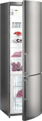 Холодильник с морозильником Gorenje NRK6200KX - общий вид