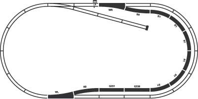 Элемент железной дороги Piko Набор путей: C (55320) - схематическое изображение