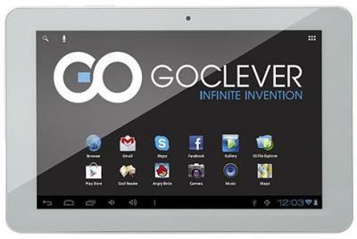 Планшет GoClever TAB R105BK (White) - фронтальный вид