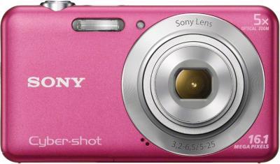 Компактный фотоаппарат Sony Cyber-shot DSC-W710 (Pink) - вид спереди