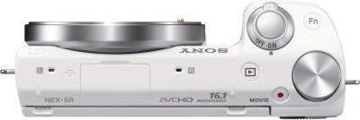 Беззеркальный фотоаппарат Sony NEX-5RL White - вид сверху
