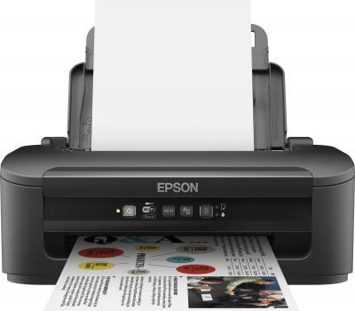 Принтер Epson WorkForce WF-2010W - фронтальный вид (открытые лотки)