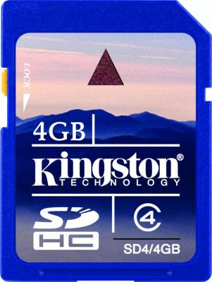 Карта памяти Kingston SDHC 4 Gb Class 4 (SD4/4GB) - общий вид