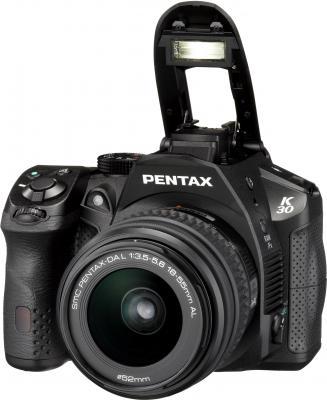 Зеркальный фотоаппарат Pentax K-30 DA 18-55mm Black - общий вид
