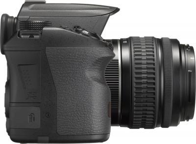 Зеркальный фотоаппарат Pentax K-30 DA 18-55mm Black - вид сбоку