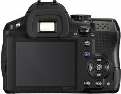 Зеркальный фотоаппарат Pentax K-30 DA 18-55mm Black - вид сзади