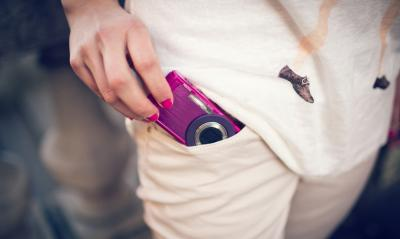 Компактный фотоаппарат Pentax Optio LS465 (Ruby-Pink) - общий вид