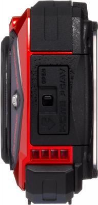 Компактный фотоаппарат Pentax Optio WG-2 (Red-Black) - вид сбоку