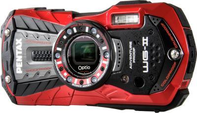 Компактный фотоаппарат Pentax Optio WG-2 (Red-Black) - общий вид