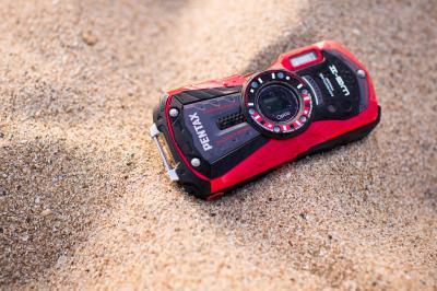 Компактный фотоаппарат Pentax Optio WG-2 (Red-Black) - пылеусточивый корпус