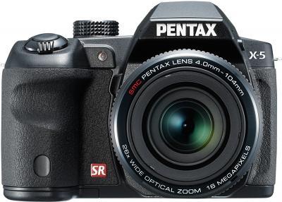 Компактный фотоаппарат Pentax X-5 (Black) - вид спереди