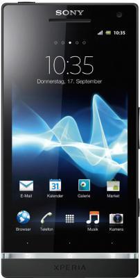 Смартфон Sony Xperia SL (LT26ii) Black - общий вид
