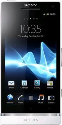 Смартфон Sony Xperia SL (LT26ii) White - общий вид