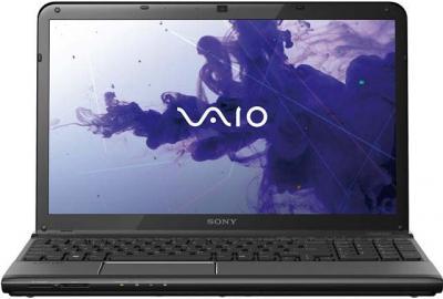 Ноутбук Sony VAIO SVE-1512D1R/B - фронтальный вид