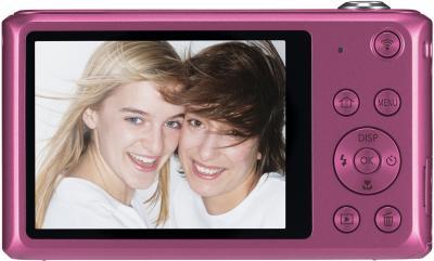 Компактный фотоаппарат Samsung DV150F (EC-DV150FBPPRU) (Pink) - вид сзади