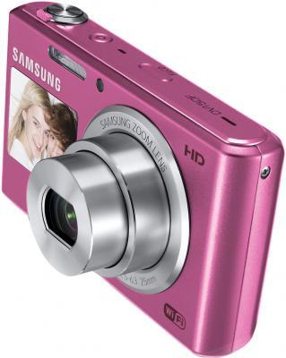 Компактный фотоаппарат Samsung DV150F (EC-DV150FBPPRU) (Pink) - общий вид