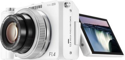 Компактный фотоаппарат Samsung EX2F (EC-EX2FZZBPWRU) (White) - общий вид