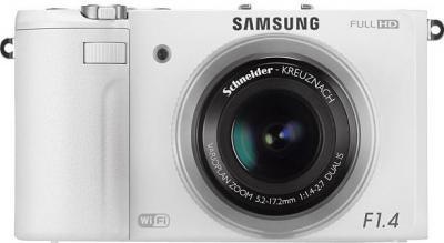 Компактный фотоаппарат Samsung EX2F (EC-EX2FZZBPWRU) (White) - вид спереди
