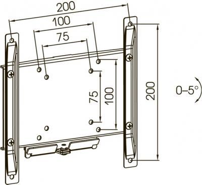 Кронштейн для телевизора Kromax Dix-4 (темно-серый) - схематичное изображение