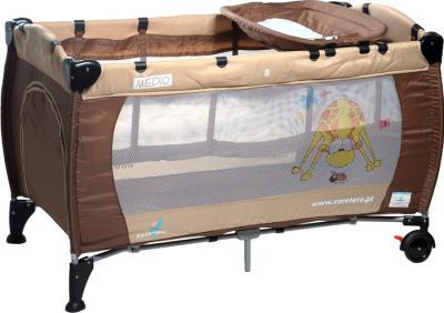 Кровать-манеж Caretero Medio Classic (Brown) - общий вид