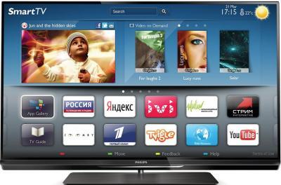 Телевизор Philips 32PFL6087T/12 - вид спереди