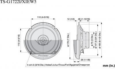 Коаксиальная ас Pioneer TS-G1722i - схема