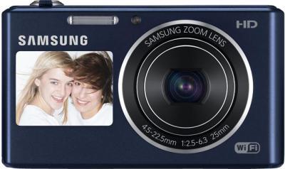 Компактный фотоаппарат Samsung DV150F (EC-DV150FBPBRU) (Black) - вид спереди