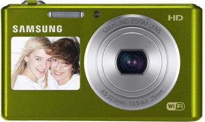 Компактный фотоаппарат Samsung DV150F (EC-DV150FBPERU) (Green) - вид спереди