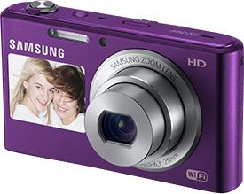 Компактный фотоаппарат Samsung DV150F (EC-DV150FBPLRU) (Plum) - общий вид