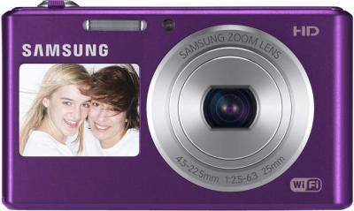 Компактный фотоаппарат Samsung DV150F (EC-DV150FBPLRU) (Plum) - вид спереди