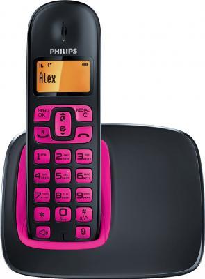 Беспроводной телефон Philips CD1911P (Black-Fuchsia) - вид спереди